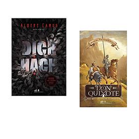 Combo 2 cuốn sách: Dịch hạch + Don Quixote nhà quý tộc tài ba xứ Mancha tập 1