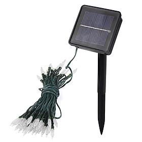Hình đại diện sản phẩm Solar String Lights White 24 Feet 50 LED Fairy Lamp 2 Mode Waterproof Outdoor Garden Light For Xmas Party Wedding - White