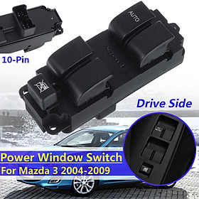 ABS Front Left Master Electric Window Switch For Mazda 3 2004-2009