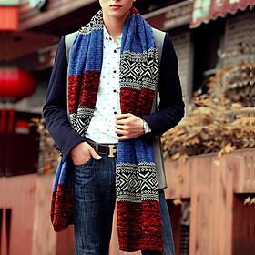 Khăn len choàng cổ nam nữ phối màu đẹp dài 1m8 rộng 35cm phong cách hàn quốc thu đông 2020