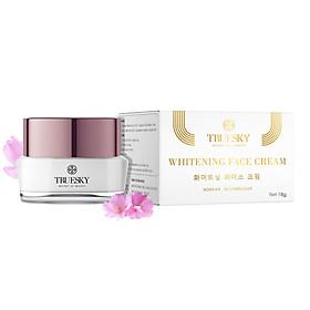 Kem dưỡng trắng da mặt cao cấp Truesky dạng lotion chiết xuất ngọc trai chính hãng 15g - Whitening Face Cream