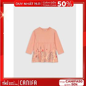 Áo mặc nhà bé gái sơ sinh 100% cotton 4LT18W001 Canifa