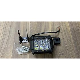 Đèn LED trợ sáng vuông 6 bóng loại chất lượng dành cho xe máy
