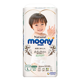 Bỉm Quần Moony Natural L36