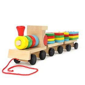 Đồ chơi đoàn tàu thông minh chở hình khối cho bé