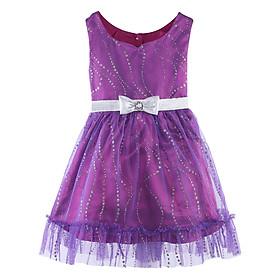 Đầm Xòe Ren - Tím