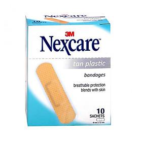 Hộp 10 gói Băng keo cá nhân 3M Nexcare TAN 10 miếng/gói