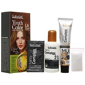 Kem nhuộm màu tóc cao cấp Lavox Youth&Color L11 (Vàng Rêu sáng)
