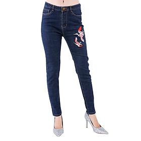 Quần Jeans Nữ Thêu Chim Hạc Cao Cấp JNTH008