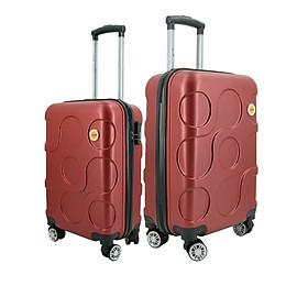 Bộ 2 vali nhựa kéo size 20inch + 24inch i'mmaX X12