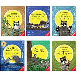 Combo 6 cuốn picture book song ngữ: Nụ Hôn Trên Bàn Tay + Chester Dũng Cảm + Những Chiếc Túi Đầy Ắp Những Nụ Hôn + Gấu Mèo Chester Và Kẻ Bắt Nạt To Xác Xấu Xa + Nụ Hôn Tạm Biệt + Gấu Mèo Chester Và Quả Sồi Đong Đầy Kỉ Niệm.Tái bản 2021