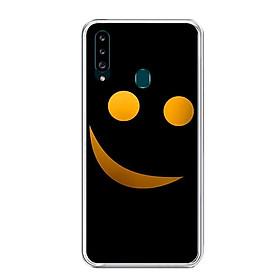 Ốp lưng dẻo cho điện thoại Samsung Galaxy A20S - 0272 SMILE03 - Hàng Chính Hãng