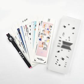 Hộp đồ dùng học tập BTS kèm stiker và bút