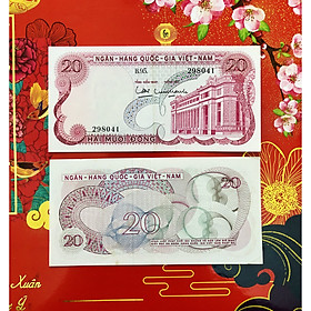 Tờ 20 Đồng hoa văn cổ Việt Nam chất lượng đẹp [SƯU TẦM TIỀN XƯA] - tặng bao lì xì - The Merrick Mint