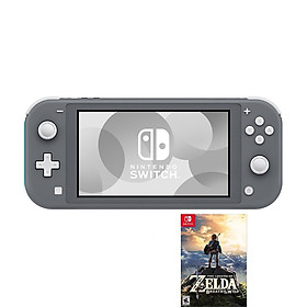 NINTENDO SWITCH LITE - KÈM GAME ZELDA BREATH OF THE WILD - GRAY-HÀNG NHẬP KHẨU