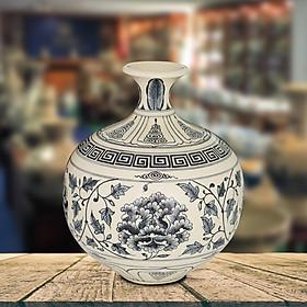 Bình giọt ngọc gốm Chu Đậu - kích thước F19 x H23 cm
