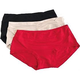 Combo 3 quần cotton Ladali QCT01 - Đen/Đỏ/Da