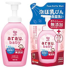 Combo Nước Rửa Bình Arau Baby ( Bình 500ml + Túi 450ml)
