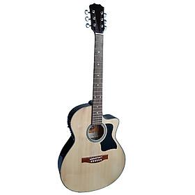 Đàn guitar acoustic model DT70X có EQ 7545R cho ra âm thanh tốt dành cho bạn mới tập