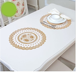Combo 2 khăn trải bàn ren hoa tròn 30cm