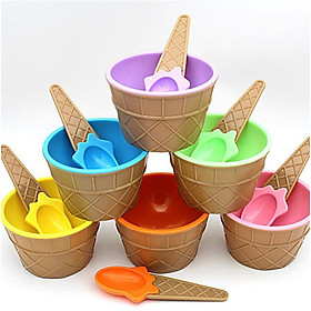Siaonvr 6PC kids Ice Cream Bowls Ice cream Cup Couples Bowl Gifts Dessert