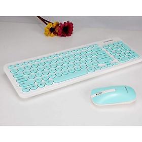 Bàn phím và Chuột Không Dây DIVIPAD K520 màu xanh - Hàng Chính Hãng