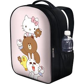 Balo Unisex In Hình Line Friends Và Hello Kitty - BLCT614