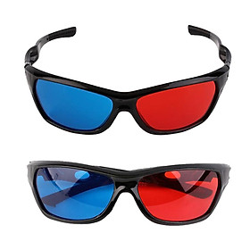 2x Black Frame Red Blue 3D Glasses For Dimensional Anaglyph Movie 3D Movie
