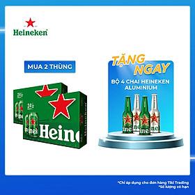 Thùng Bia Heineken 24 Lon Thường (330ml / Lon)