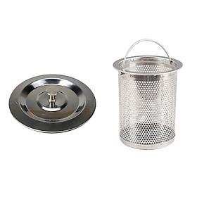 Combo nắp đậy và rọ chắn rác dành cho bồn rửa chén inox