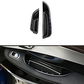 2pcs Car Door Handle Storage Box Tray for C Class W205 GLC X253 2015-2019
