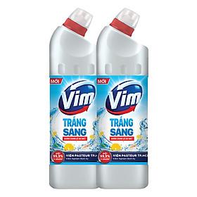 Combo 2 Vim Diệt Khuẩn Trắng Sáng Hương Chanh Sả Dịu Mát 880ml