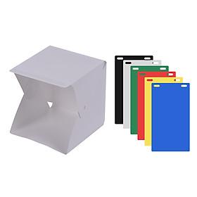 Hộp Chụp Hình Studio DIY Đèn LED Có Thể Gập Lại Với Dải Đèn LED 6 Màu