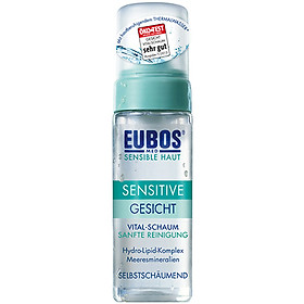 Sữa rửa mặt dạng bọt cho da dầu mụn da nhạy cảm EUBOS Sensitive Vital Schaum Gentle Facial Cleansing (150ml)