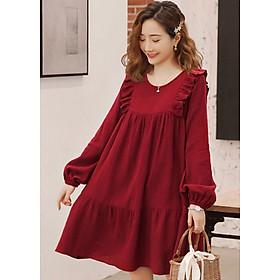 Đầm đỏ bèo vai
