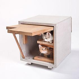 Nhà Gỗ Hình Hộp Cực Xin Xắn Cho Mèo CH002