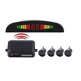 Wireless Car Parking Radar Car Parktronic LED Parking Monitor With 4 Sensors