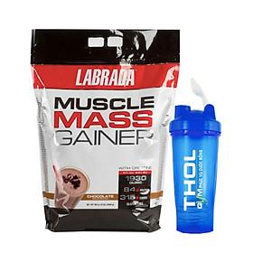 Sữa hổ trợ tăng cân tăng cơ Muscle Mass Gainer Chocolate 5,4kg + tặng Bình lắc