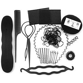 Hair Styling Set Fashion Hair Styles DIY Tools Accessories Hair Modeling Hairdressing Tool Kit Simple & Fast Bun Shaper