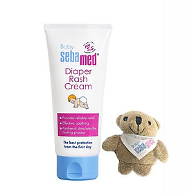 Kem ngăn ngừa hăm tã (50ml) cho bé Sebamed pH5.5 (SBB03B) - Tặng Gấu Bông Treo Chìa Khoá