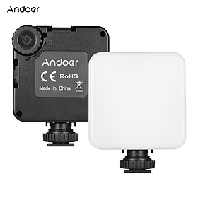 Andoer LED 68 PRO RGB LED Video Light 6W Color Temperature 2500-8500K with Triple Cold Shoe Mount Built-in 2000mAh