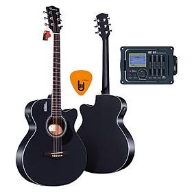 [Gắn EQ] Đàn Guitar Acoustic Rosen G11, G12, G13, G15 và EQ Mings AGA MET-B12 (Đàn đã gắn sẵn EQ) - Chính Hãng - Kèm móng gảy DreamMaker
