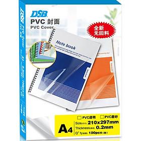 Miếng Film Nhựa Trong Suốt Bọc Sổ Khổ A4 (Thùng 100 Tờ)