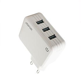 Cốc sạc 20W 3 cổng USB Có đèn Led báo điện  A831 - Hàng chính hãng