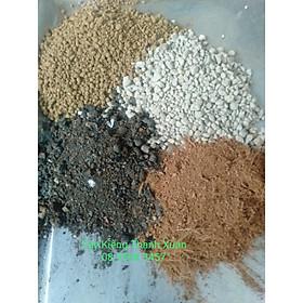 Đất trồng sen đá trộn sẵn-Trồng xương rồng, sen đá-Cung cấp đầy đủ chất dinh dưỡng cho cây trồng- Bịch 1 KG - Đã được trộn và xử lý đầy đủ)