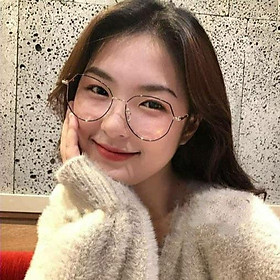 Gọng Kính Cận Kim Loại Nữ Viền Mảnh Thời Trang Hàn Quốc U1968 Nhiều Màu