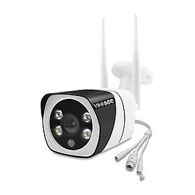 Camera IP Wifi Trong nhà Ngoài trời Yoosee 9104A 2 Râu thực FullHD 1080P 2 LED trợ sáng đàm thoại 2 chiều (Trắng) Hàng Nhập Khẩu