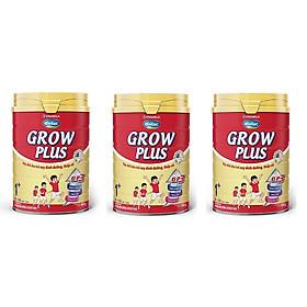 BỘ 3 LON SỮA BỘT VINAMILK DIELAC GROW PLUS 1+ 900G (CHO TRẺ TỪ 1 - 2 TUỔI)
