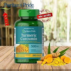 TPCN bảo vệ hệ tiêu hóa tinh chất nghệ vàng Tumeric Curcumin 500mg 180 viên của Puritan's Pride
