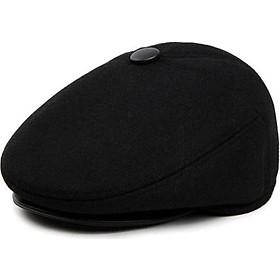Mũ nồi – Nón Beret mùa đông dành cho trung niên vải nỉ dạ cao cấp có che tai cực ấm áp